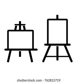 Painting easel vector icon on white background