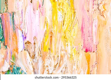 painting fragment vector illustration. Oil on canvas texture. abstract background. brushstrokes