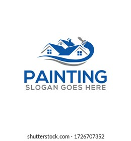 Painting logo and Real Estate, Property & Homes business logo design