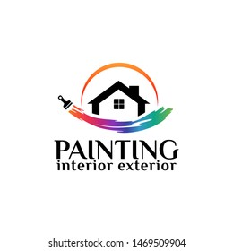 Painting Logo Template Design Vector