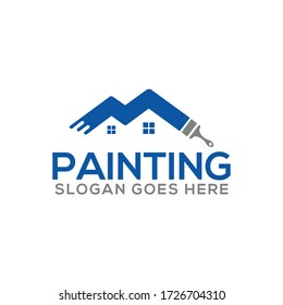 Painting an Real Estate, Property & Homes business logo design