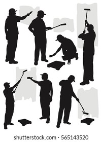 Painting service silhouette collection