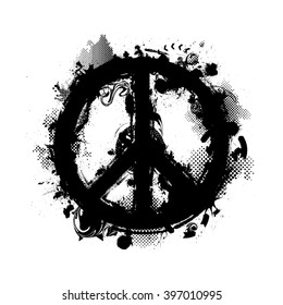Paint.Peace Symbol Art.