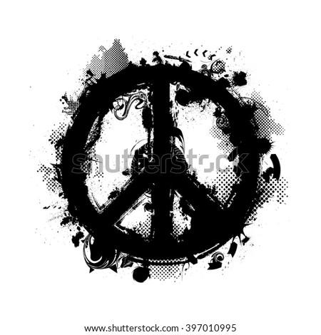 Paint Peace Symbol Art Stock Vector Royalty Free 397010995