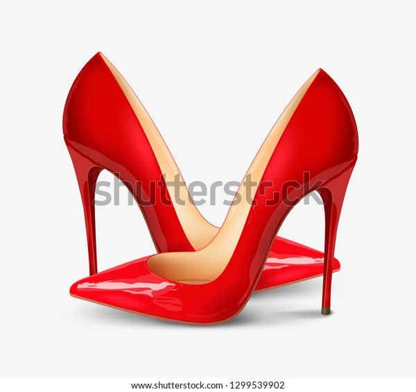 c72f63e353c Pair Beautiful Female Shoes On White Stock Vector (Royalty Free ...