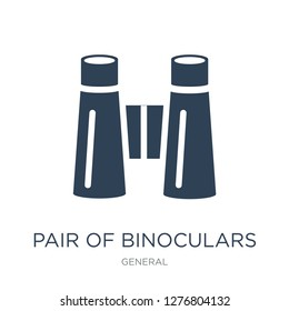 pair of binoculars icon vector on white background, pair of binoculars trendy filled icons from General collection, pair of binoculars vector illustration
