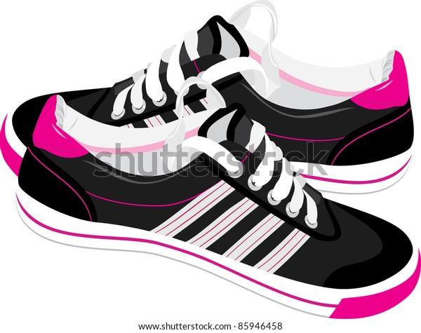 pair-black-sneakers-vector-600w-85946458