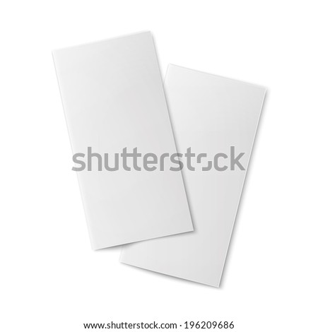 pair blank bifold paper brochures on のベクター画像素材