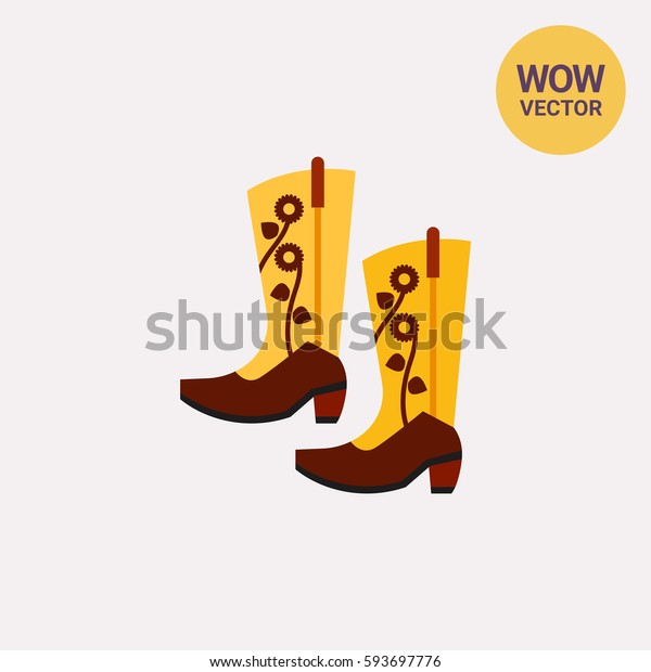 Pair of Cowboy Boots Icon