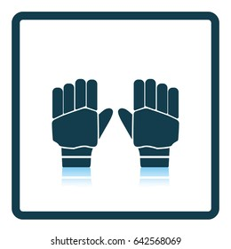 Pair of cricket gloves icon. Shadow reflection design. Vector illustration.