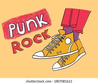 pair fashionable sneakers. vector illustration fashion