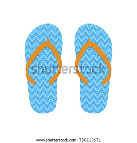 69392e44b80909 Pair Flip Flops Isolated On White Stock Vector (Royalty Free ...