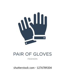 pair of gloves icon vector on white background, pair of gloves trendy filled icons from Fashion collection, pair of gloves vector illustration