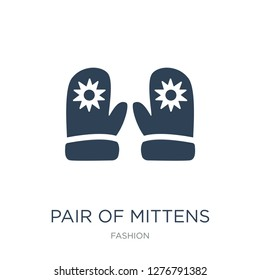 pair of mittens icon vector on white background, pair of mittens trendy filled icons from Fashion collection, pair of mittens vector illustration
