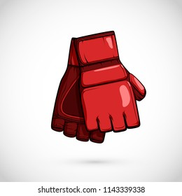 Pair of MMA gloves. Mix Martial arts equipment. Vector illustration