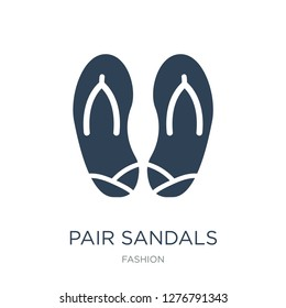 pair sandals icon vector on white background, pair sandals trendy filled icons from Fashion collection, pair sandals vector illustration
