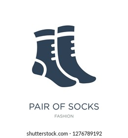 pair of socks icon vector on white background, pair of socks trendy filled icons from Fashion collection, pair of socks vector illustration