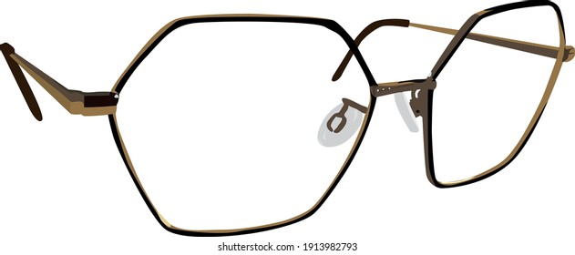 a pair of trendy glasses