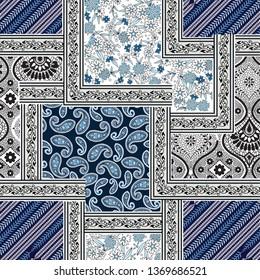 paisley bandanna pattern