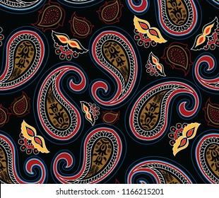 paisley design pattern on background