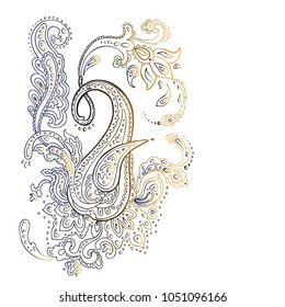 Paisley. Detailed Hand Drawn pattern.