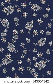 paisley floral ditsy pattern