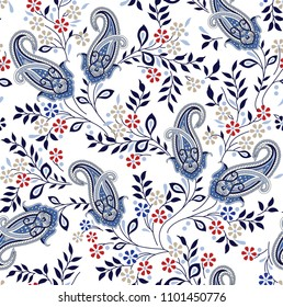 paisley with flower pattern