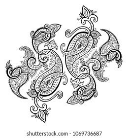 Paisley. Hand Drawn Boho ornament. Vector illustration