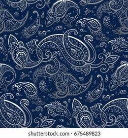 Paisley Hand Drawn pattern.