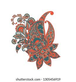 Paisley isolated pattern. Damask style Vintage illustration