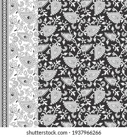 Paisley leaf pattern for fabric print and background or texture. tile use