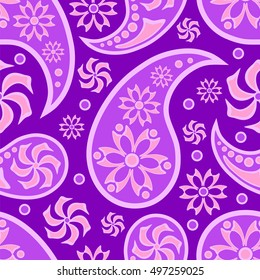 Paisley ornament. Indian pattern. Seamless background.