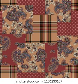 Paisley patchwork pattern,