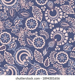 Paisley pattern, great vector design for any purposes. Seamless background