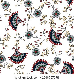 paisley red  pattern