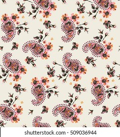 paisley romantic seamless print