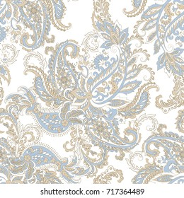 Paisley seamless pattern. Colorful damask vector background