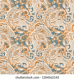 Paisley seamless pattern. Indian ornament