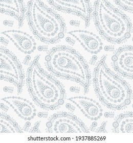 Paisley seamless vector pattern for fabric design.