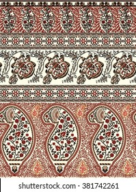 paisley tapestry hem border design
