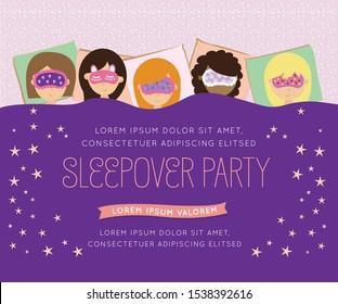 Pajama Kids' Sleepover Party Card Invitation