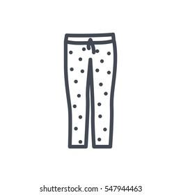 Pajama pants line icon