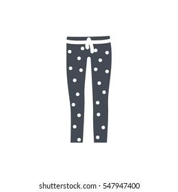 Pajama pants silhouette icon