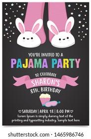 Pajama Party invitation card template