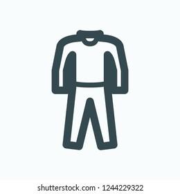Pajamas icon, sleepwear vector icon
