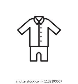 pajamas icon vector design line style