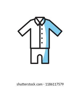 pajamas icon vector. modern icon design
