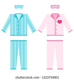 e68720186d Pajamas. A set of pajamas with a sleep mask. Men s and women s pajamas.