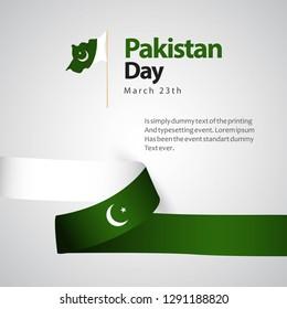 Pakistan Day Vector Template Design Illustration