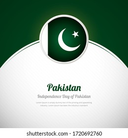 Pakistan happy independence day with elegant country flag background